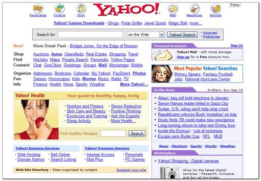 Google vs. Yahoo! Results