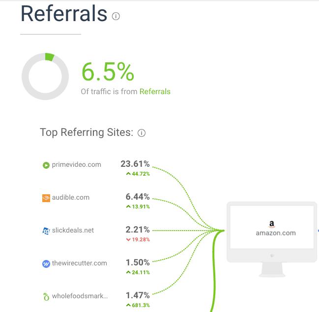 Amazon Referral Traffic