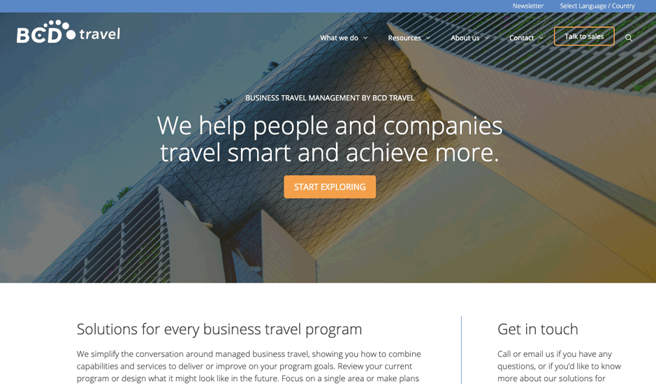 Bcd Travel Generatepress Premium Example