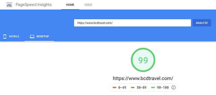 Bcd Travel Generatepress WordPress Speed Test
