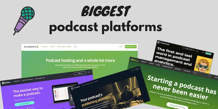 Biggest Podcast Platforms