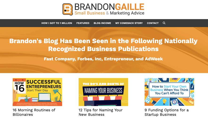 Brandon Gaille Generatepress Premium Example