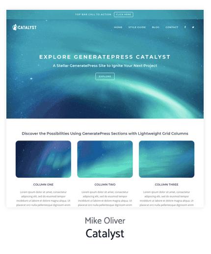 Catalyst Generatepress Site Library