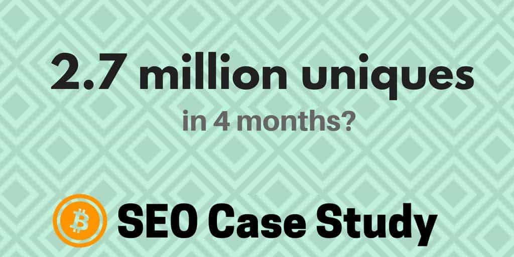 The organic SEO strategy this cryptocurrency blog used to get 2.7 million monthly visitors in 4 months