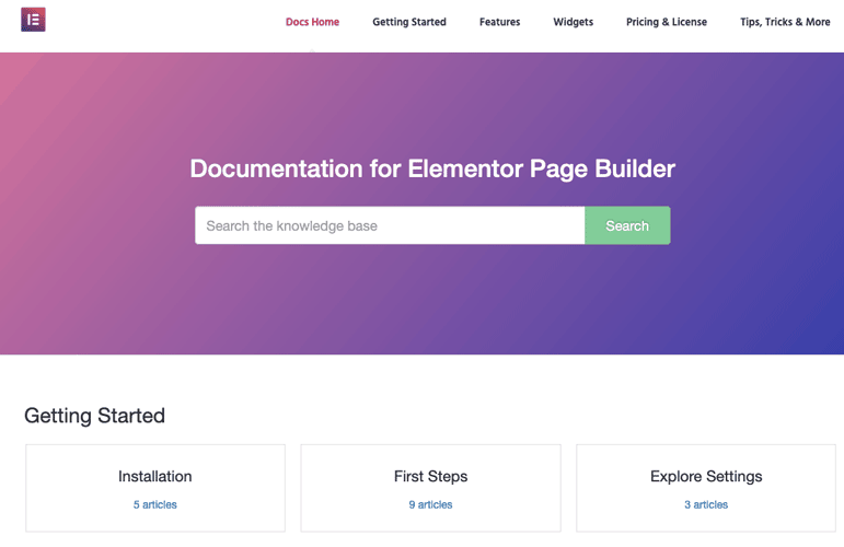 Elementor Documentation