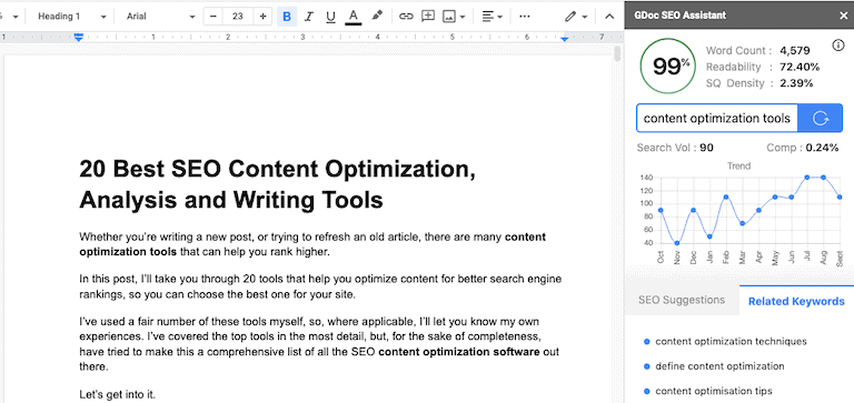 Gdoc Seo Assistant Example