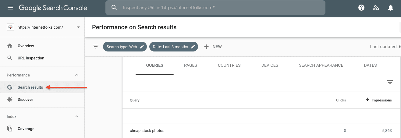 Gsc Search Performance Report