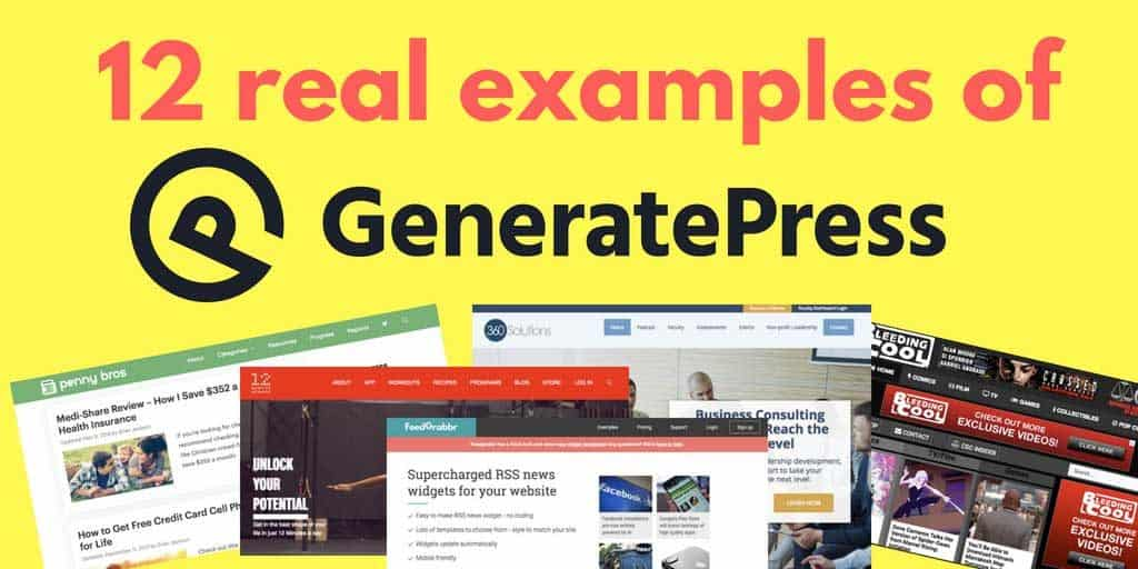 12 real WordPress sites using the GeneratePress theme in 2018