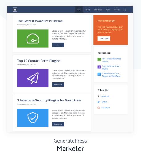 Marketer Generatepress Site Library