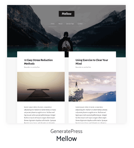Mellow Generatepress Site Library