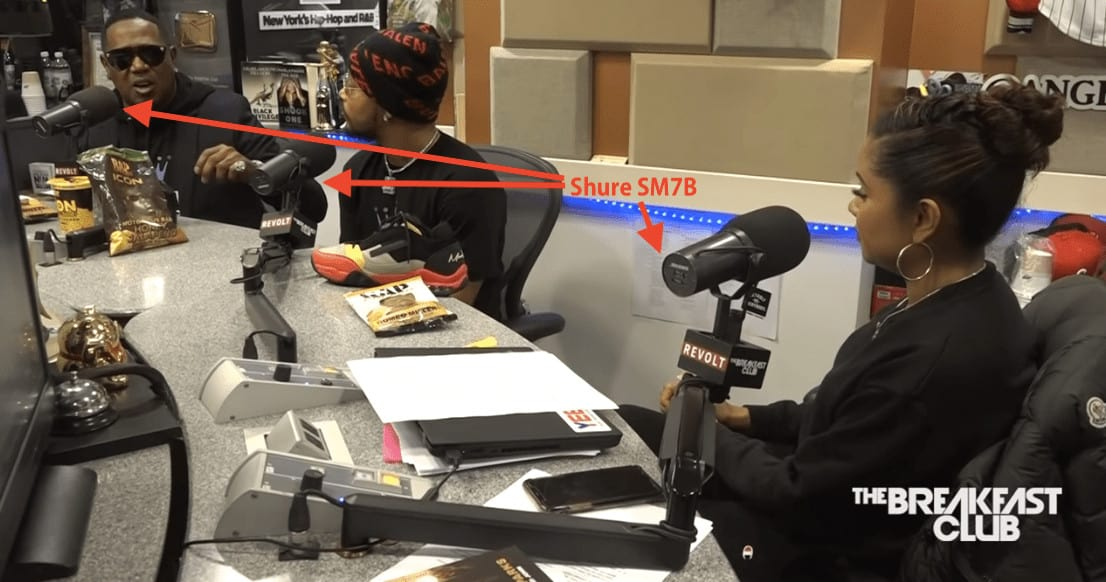 Power 1051fm Radio The Breakfast Club Shure Sm7b