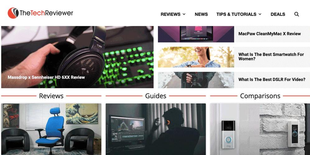 Tech Reviewer Generatepress Premium Example