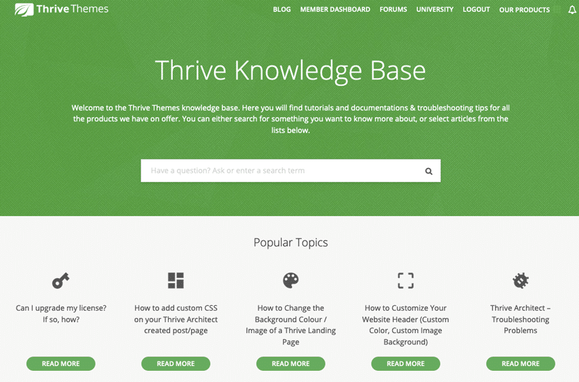 Thrive Knowledge Base
