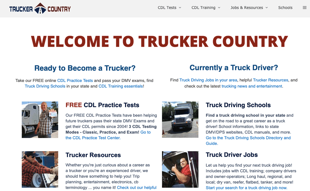 Trucker Country Generatepress Premium Example