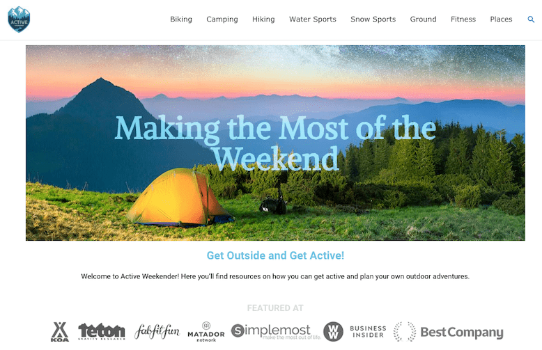 Active Weekender Astra Amazon Affiliate Theme