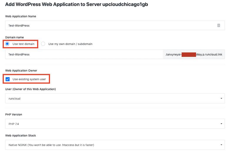 Add WordPress To Runcloud Server