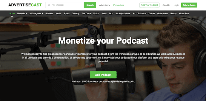 Advertizecast Podcast Monetization Platform