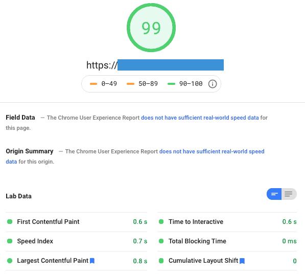 After Desktop Pagespeed