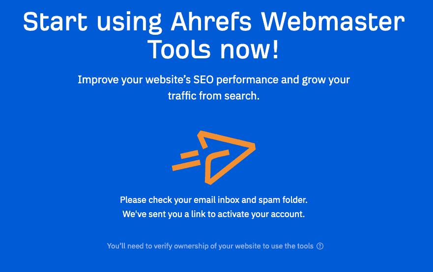 Ahrefs Site Explorer Verify Email