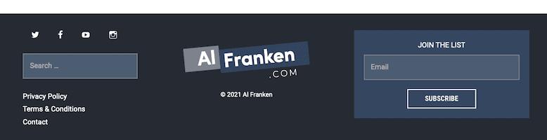 Al Franken Generatepress Footer