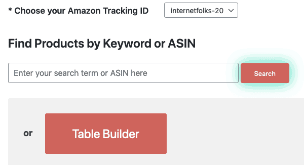 Amalinks Pro Table Builder Button