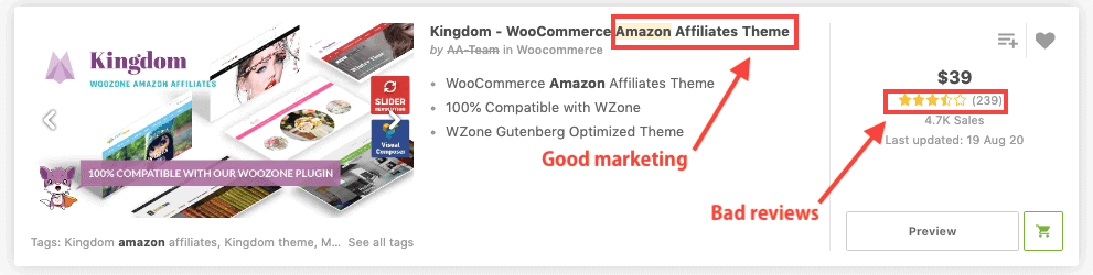 Amazon Affiliate Theme To Avoid