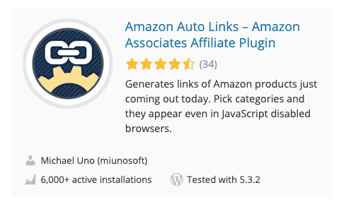 Amazon Auto Links Plugin