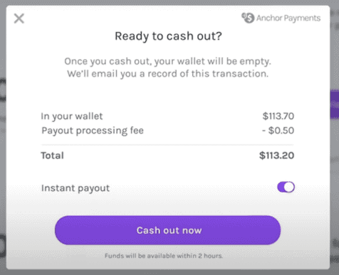 Anchor Ad Payment