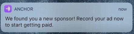 Anchor New Sponsor