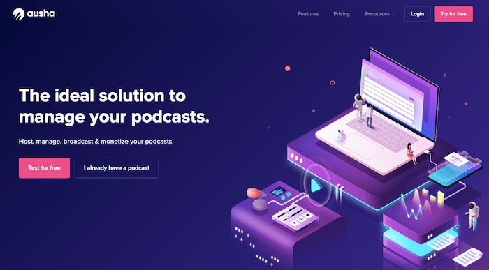 Ausha Podcast Hosting