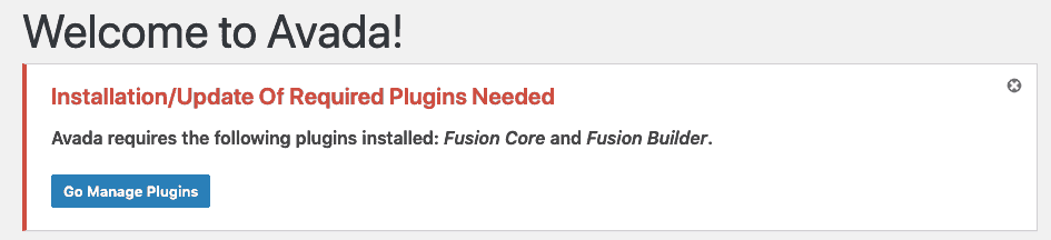 Avada Required Plugins