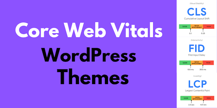 Best Wordpress Theme For Google Core Web Vitals Scores