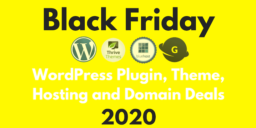 Black Friday WordPress 2020