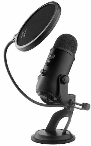 Blue Yeti With Pop Filter Windscreen