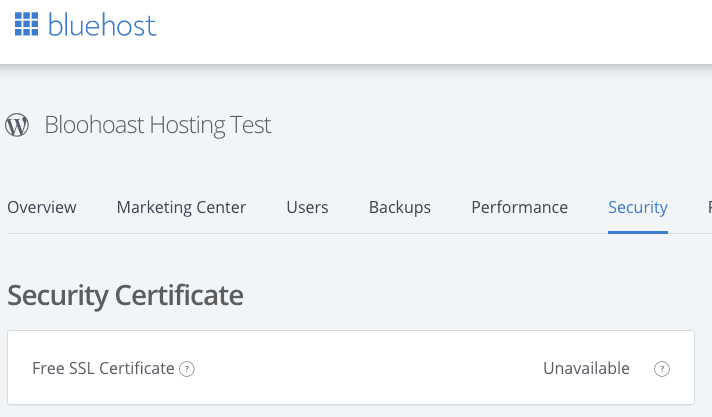 Bluehost Add Ssl