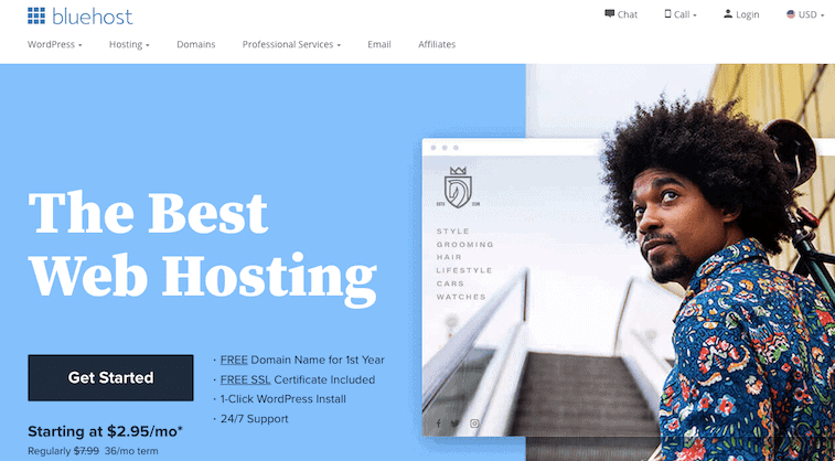 Bluehost New Homepage Design