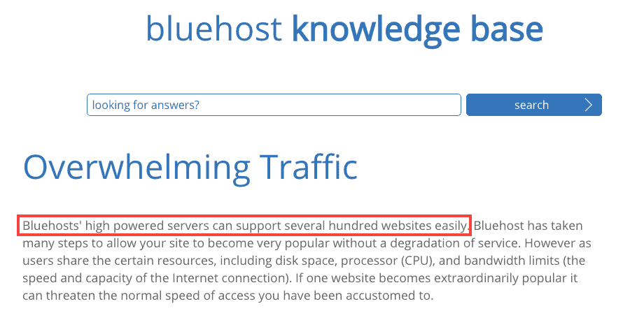 Bluehost Server Designed For Hundreds Websites