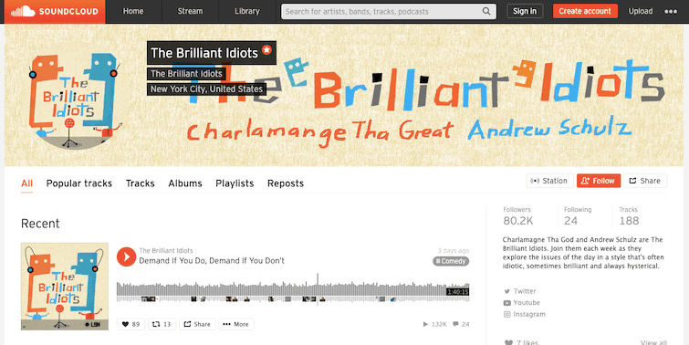 Brilliant Idiots Podcast Soundcloud