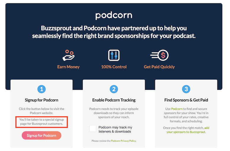 Buzzsprout Podcorn