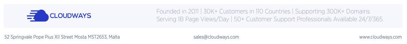 Cloudways Company Info