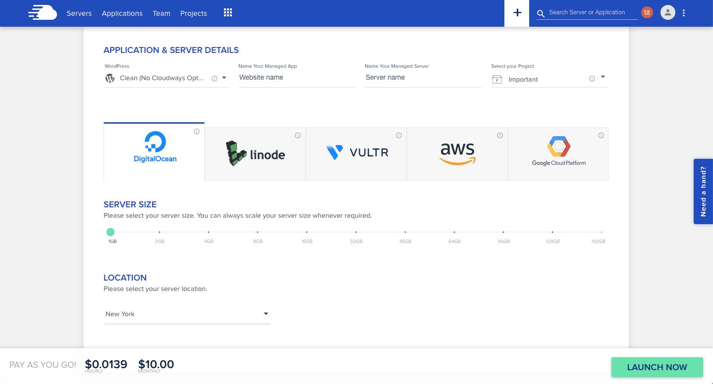 Cloudways Server Setup