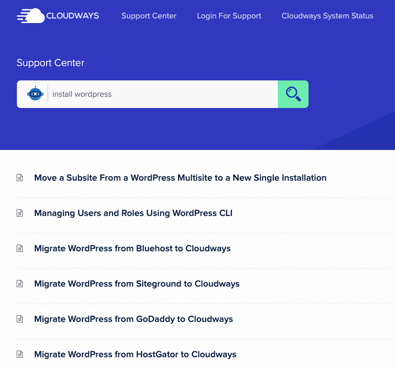 Cloudways Support Centre