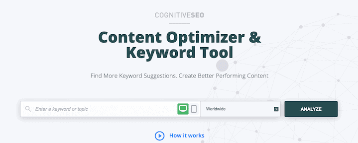 Cognitive Seo Keyword Tool