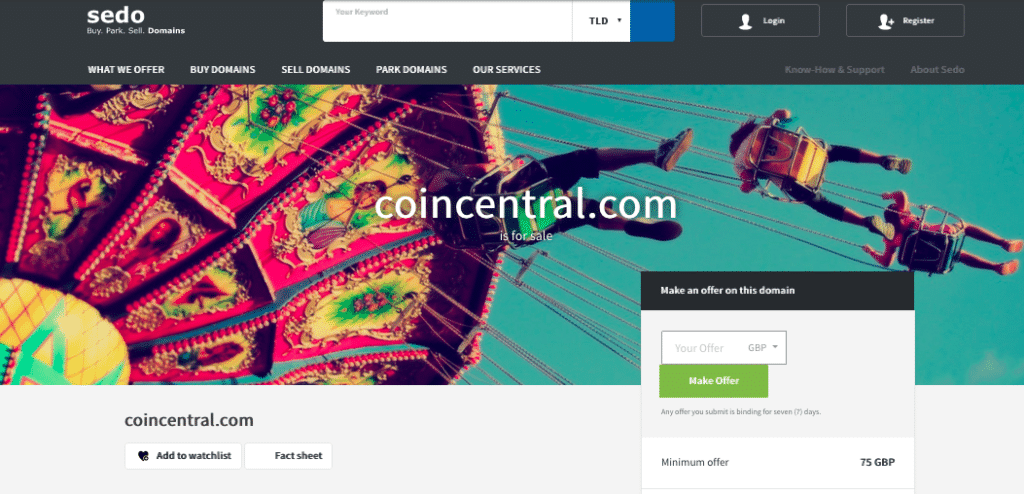 coincentral-for-sale