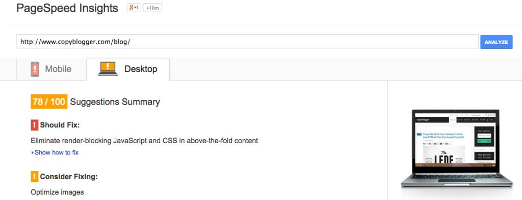 copyblogger-actual-speedtest