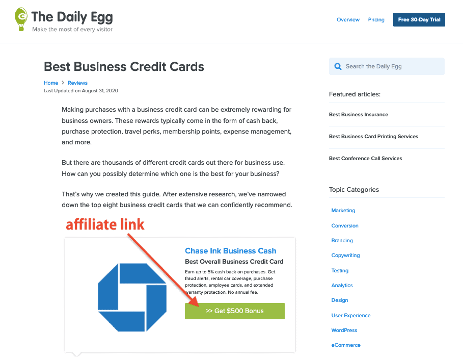 Crazy Egg Affiliate Post