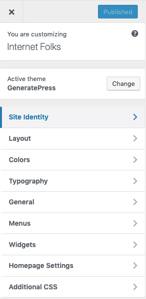 Customize Generatepress Menu