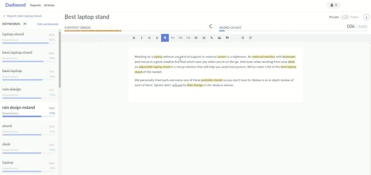 Dashword Content Editor