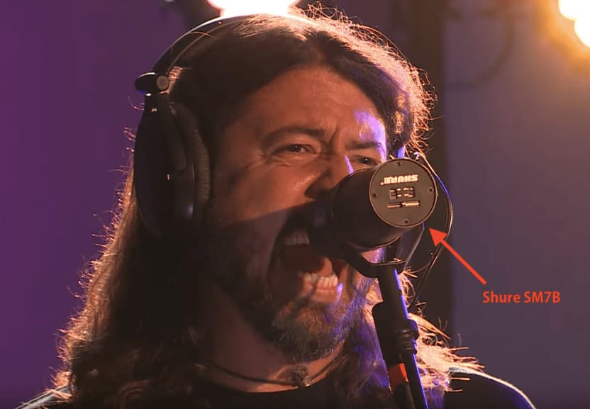 Dave Grohl Foo Fighters Mic Shure Sm7b