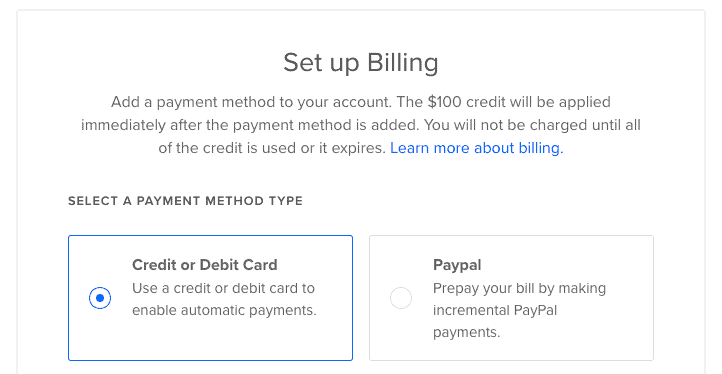 Digitalocean Add Payment Method